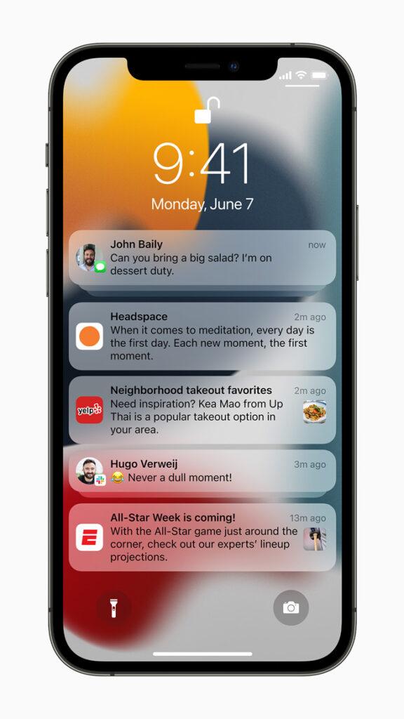 iOS 15 notifiche Techline